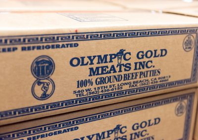 Olympic Gold Beef Patties Box